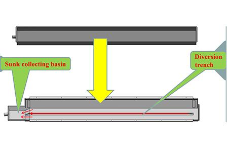 V type drain pan