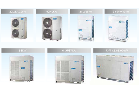 Wide range of outdoor units